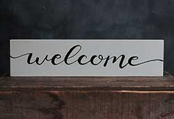 Welcome Wood Sign (Custom Color)