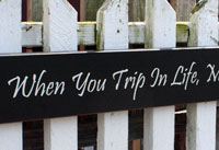 When You Trip In Life Make It Part of Your Dance Handmade Sign