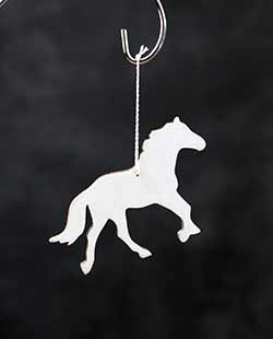 White Horse Personalized Ornament