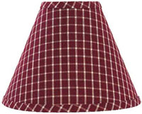 Williamsburg Check Lampshades - Burgundy