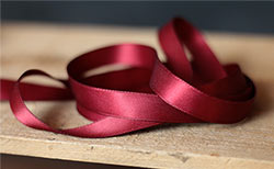 Burgundy Double Faced Poly Satin Ribbon, 1/2 inch