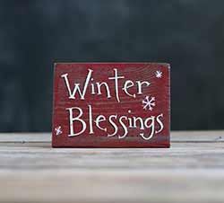 Winter Blessings Sign
