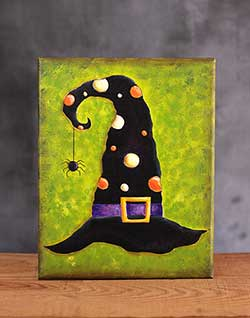 Witch Hat Halloween Art (Original Painting)