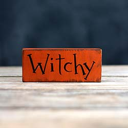 Witchy Mini Sign / Ornament