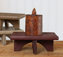 Rectangle Wood Primitive Riser - Burgundy