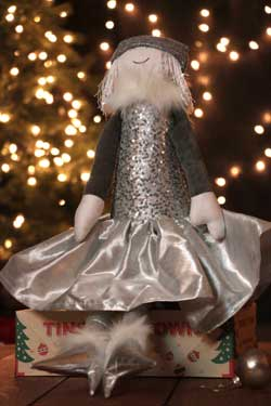 Extra Large Winter Princess with Silver Sequins