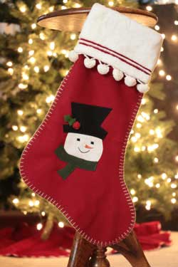 Wool Stocking with Snowman