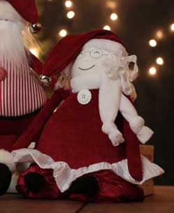 Red Chenille Mrs. Claus