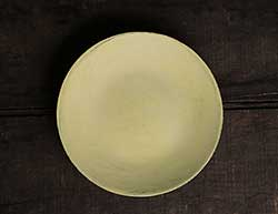 Distressed 6 inch Candle Plate - Yellow