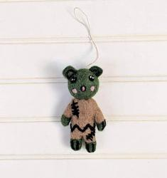 Franky the Zombie Wool Felt Ornament