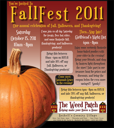 FallFest 2011 at The Weed Patch!