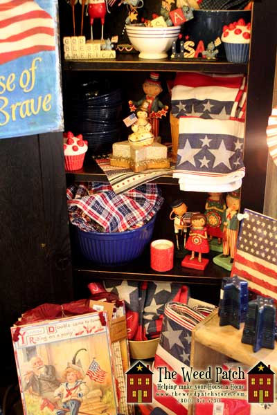 Lori Mitchell, ESC, DII, Blossom Bucket, Primitives By Kathy, Grasslands Road, and MORE Americana at The Weed Patch