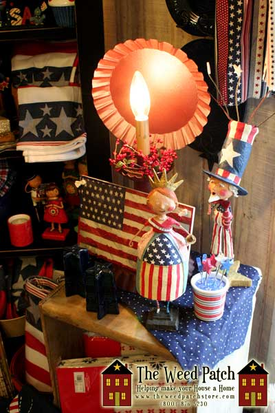 Lori Mitchell Americana, Colonial Tin, Park Designs and more Americana at The Weed Patch