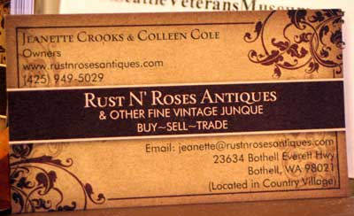Rust N' Roses Antiques in Bothell's Country Village
