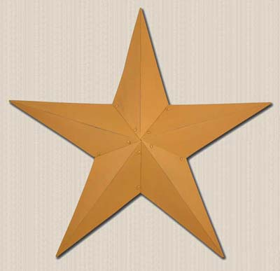 12 inch Mustard Primitive Wall Star
