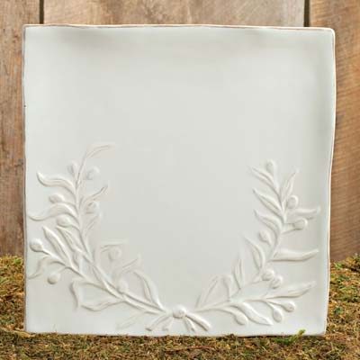 Bird and Crown Dinnerware Square Platter by Lone Elm Studios