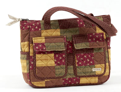 Welcome Everyday Quilted Handbag by Victorian Heart