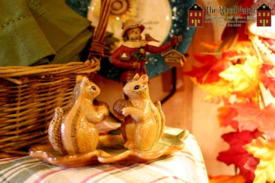 Squirrel Salt and Pepper for Fall at The Weed Patch Country Store