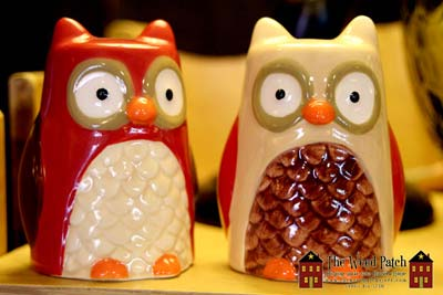 Owl Salt and Pepper for Fall at The Weed Patch Country Store