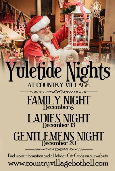 Yuletide Nights at Country Village Shops in Bothell WA - Ladies Night Out!