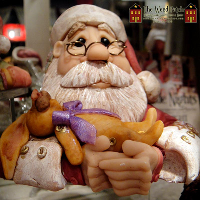 Santa Bust with Rabbit by Dennis Brown