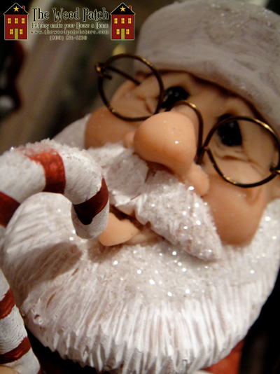 Santa Licking Candy Cane by Sculptor Artist Dennis Brown