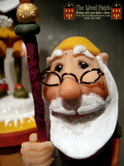 Dennis Brown Santa Artist Santa With Walking Stick