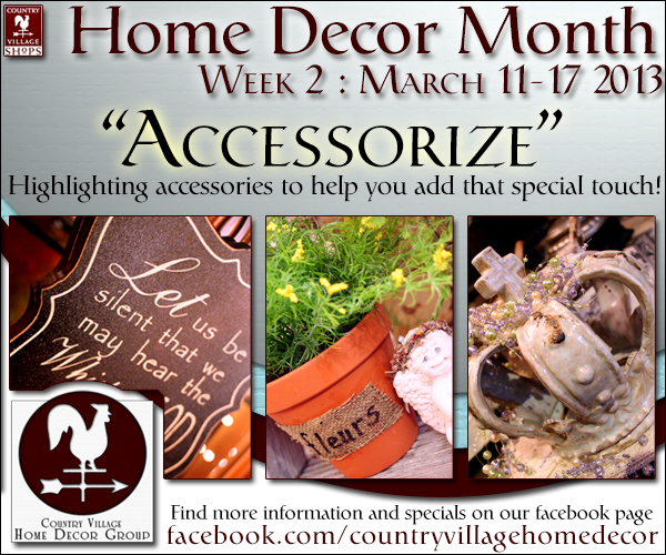 Home Decor Month : March 2013
