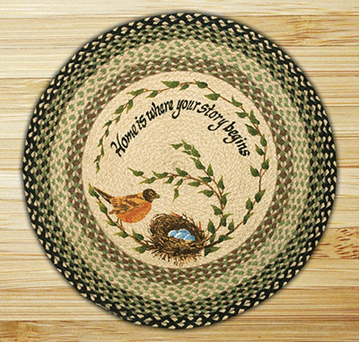 Robin's Nest Braided Jute Rug, by Capitol Earth Rugs at The Weed Patch
