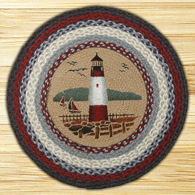 Lighthouse Braided Jute Round Rug, by Capitol Earth Rugs on The Weed Patch