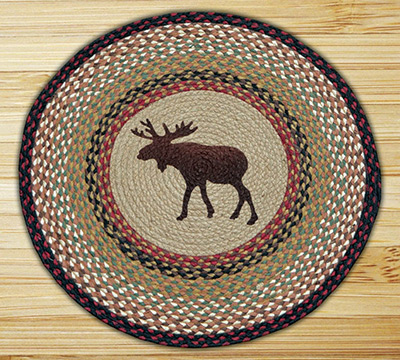 Moose Braided Jute Round Rug, by Capitol Earth Rugs at The Weed Patch