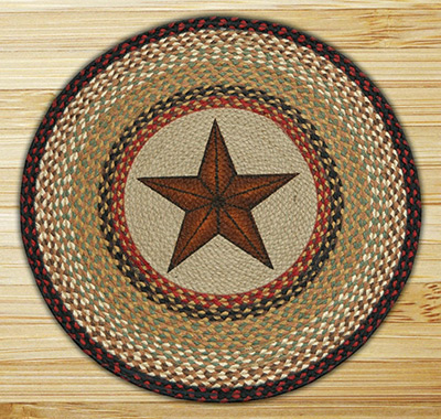 Star Braided Jute Rug, by Capitol Earth Rugs at The Weed Patch