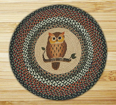Owl Braided Jute Rug, by Capitol Earth Rugs at The Weed Patch