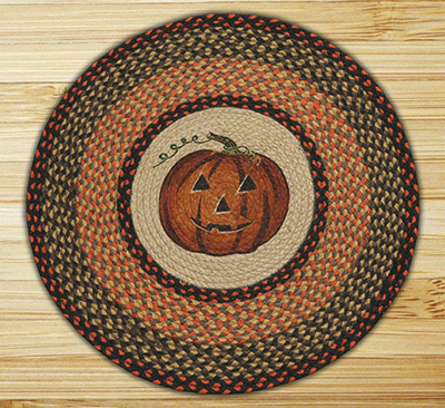 Jack O'Lantern Braided Jute Rug, by Capitol Earth Rugs at The Weed Patch