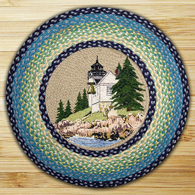 Bass Harbor Braided Jute Round Rug, by Capitol Earth Rugs at The Weed Patch