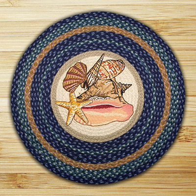 Sea Shells Braided Jute Round Rug, by Capitol Earth Rugs at The Weed Patch