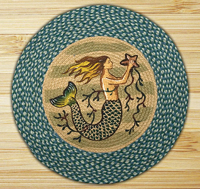Mermaid Braided Jute Round Rug, by Capitol Earth Rugs at The Weed Patch