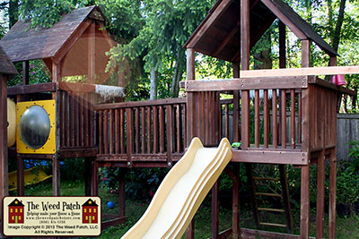 Awesome Playset and Summer Fun, from The Weed Patch family