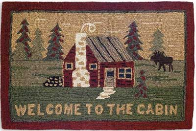 Chandler 4 Corners Welcome to the Cabin Hooked Rug at The Weed Patch