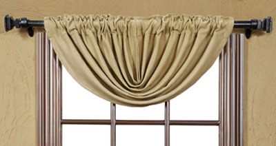 Victorian Heart Burlap Natural Balloon Valance The Weed Patch