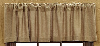 Victorian Heart Burlap Natural Valance The Weed Patch