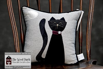 Woof & Poof Black Cat Pillow - Halloween 2014 at The Weed Patch