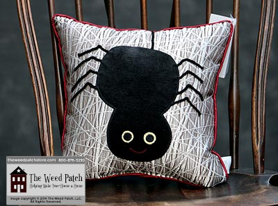 Woof & Poof Spider Pillow - Halloween 2014 at The Weed Patch