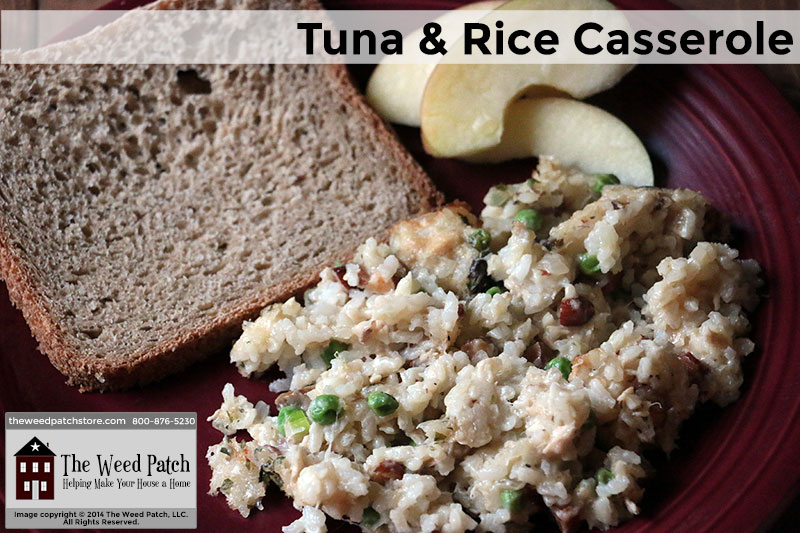 Recipe: Tuna and Rice Casserole at The Weed Patch