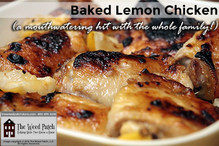 Recipe: Baked Lemon Chicken at The Weed Patch
