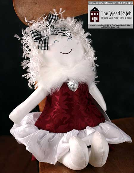 Woof & Poof Red Brocade Party Girl collectable doll made in USA - Valentine's 2015 at The Weed Patch