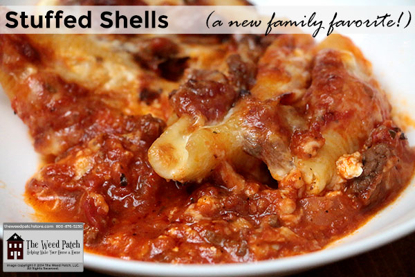 Recipe: Stuffed Shells at The Weed Patch