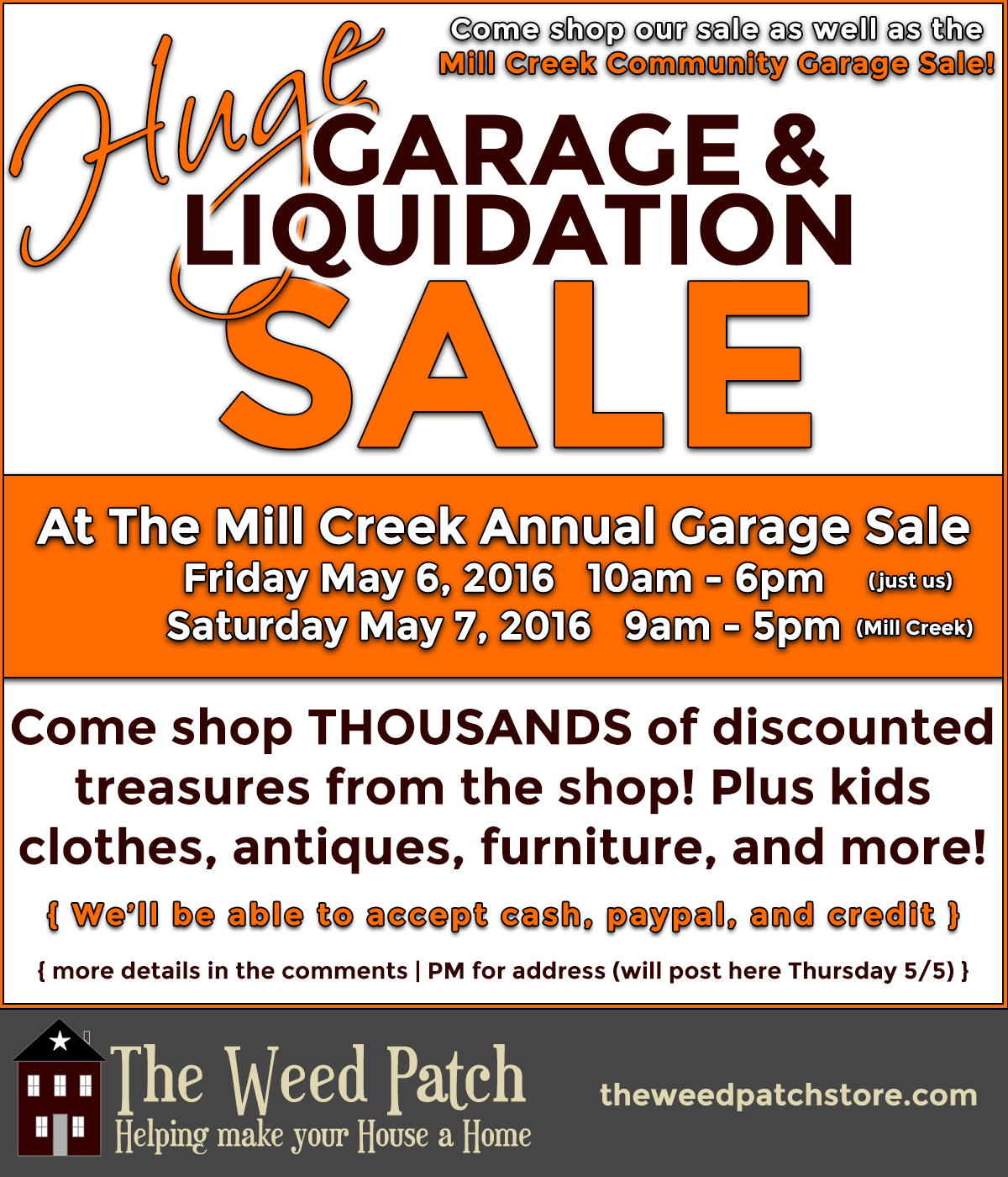 Spring 2016 Warehouse Sale