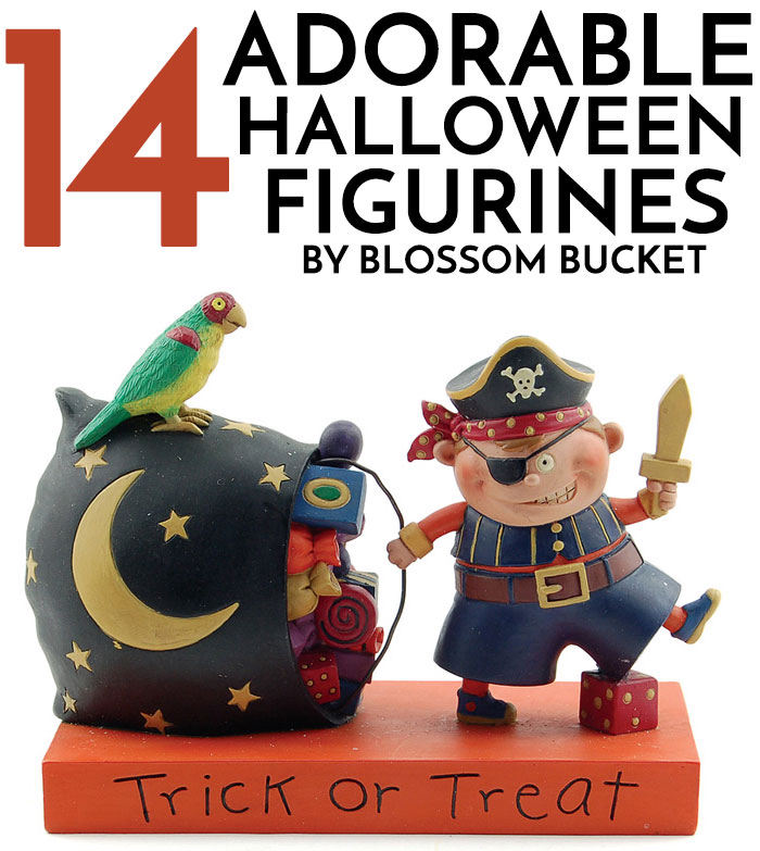 Halloween and Fall miniture figurines by Blossom Bucket at The Weed Patch