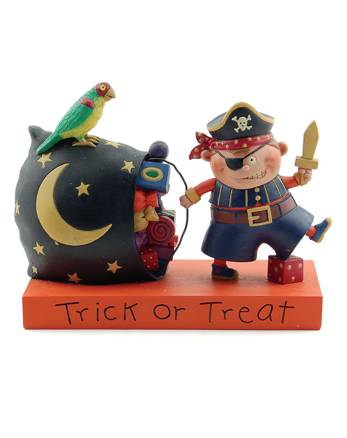 Trick or Treat Pirate Boy Blossom Bucket at The Weed Patch
